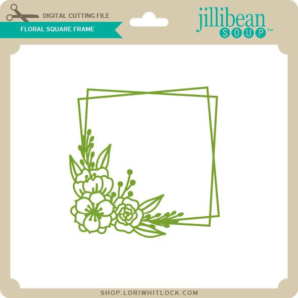 Floral Square Frame