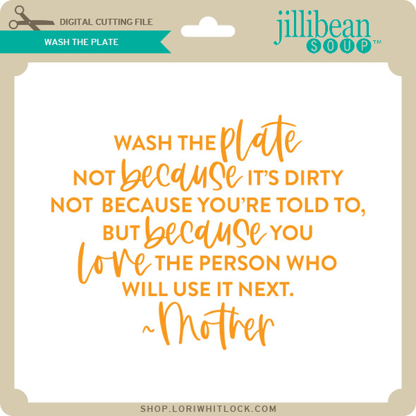 Wash the Plate