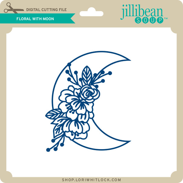 Floral with Moon