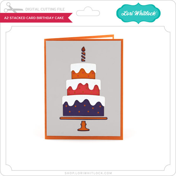 A2 Stacked Card Birthday Cake