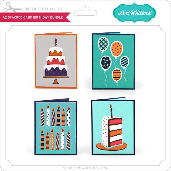 A2 Stacked Card Birthday Bundle