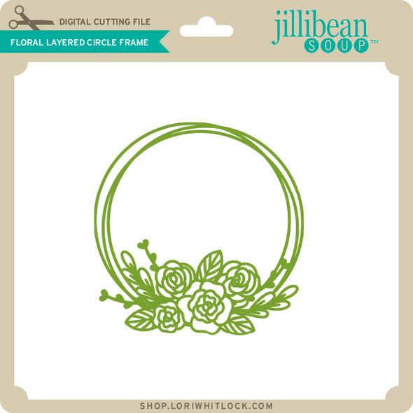 Floral Layered Circle Frame
