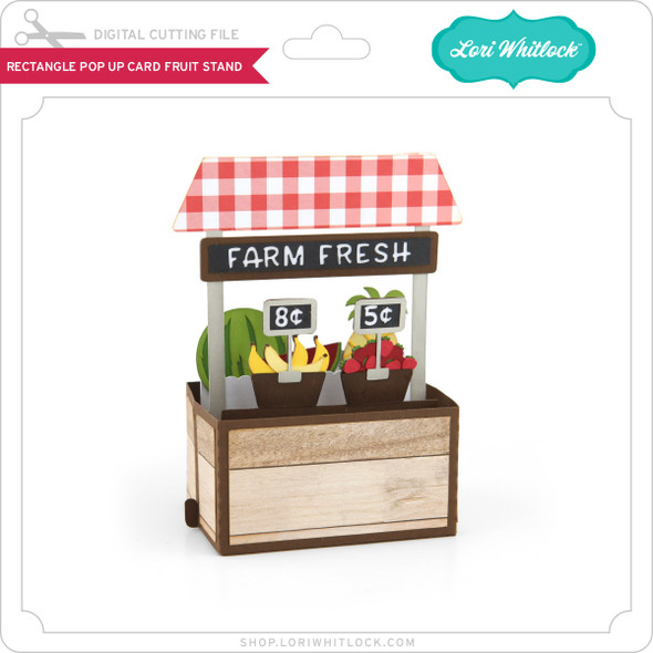Rectangle Pop Up Card Fruit Stand