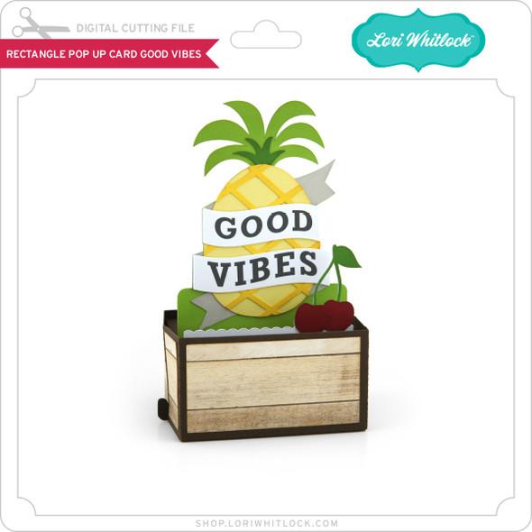 Rectangle Pop Up Card Good Vibes