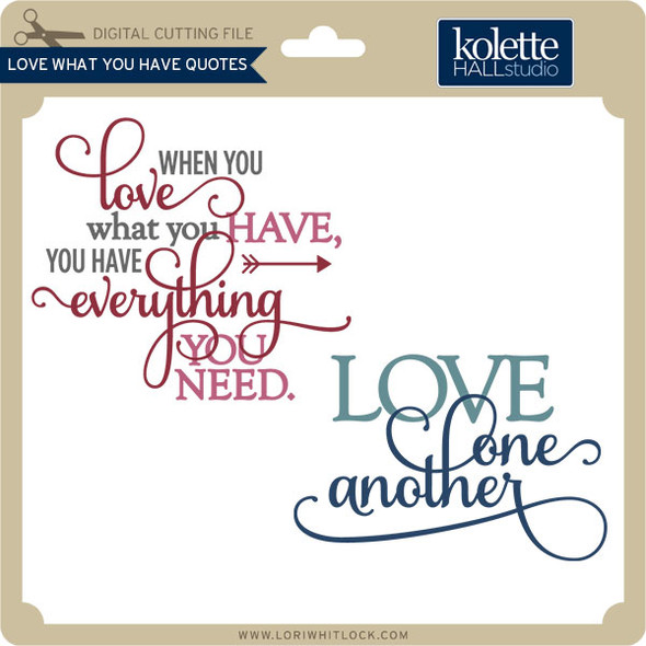 Love What You Have Quotes