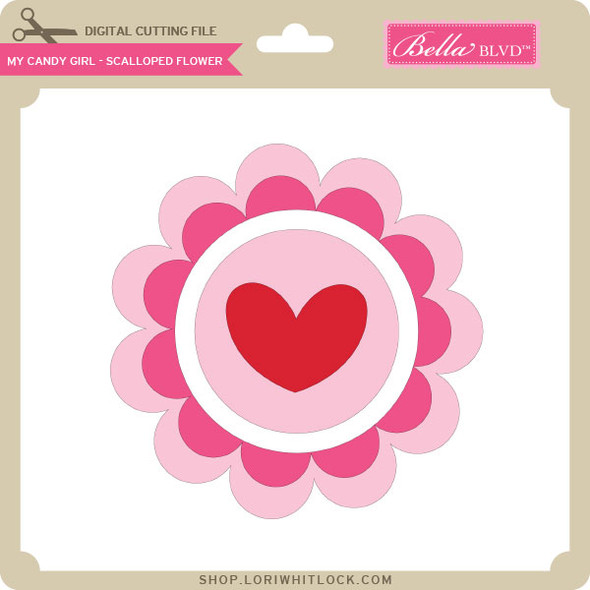 My Candy Girl - Scalloped Flowers