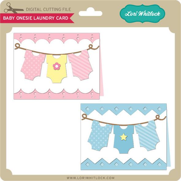 Baby Onesie Laundry Card