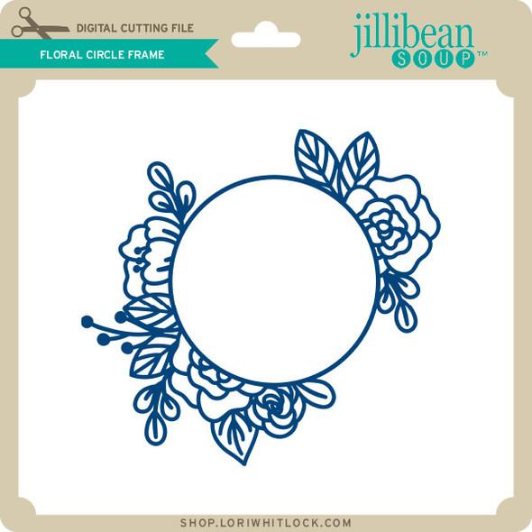 Floral Circle Frame 2