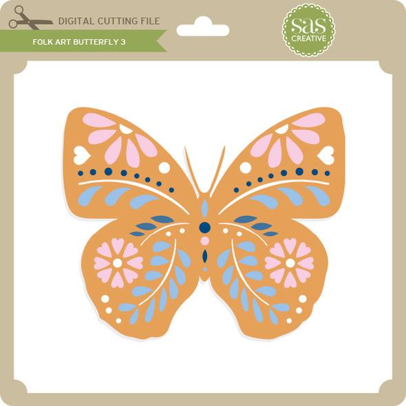 Folk Art Butterfly 3