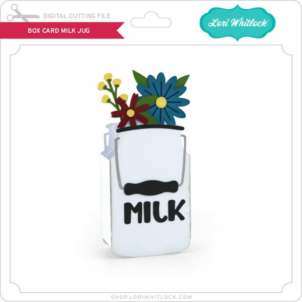 Box Card Milk Jug