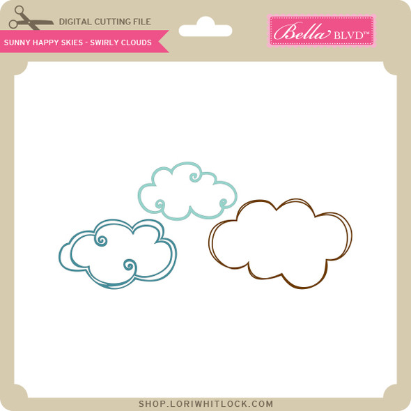 Sunny Happy Skies - Swirly Clouds