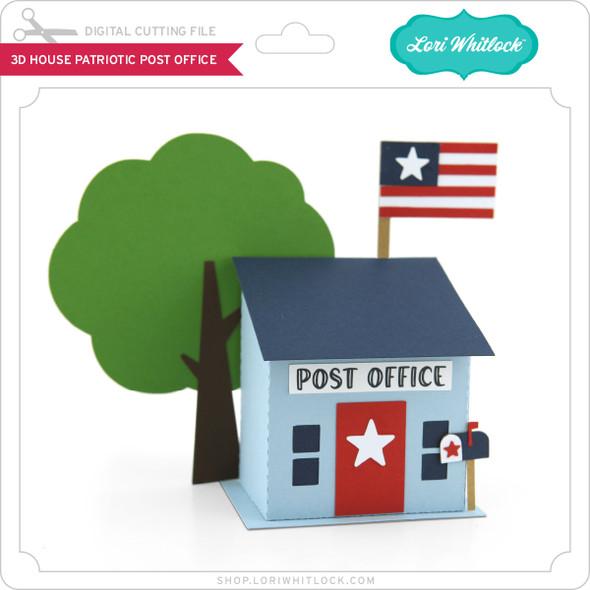3D House Patriotic Post Office