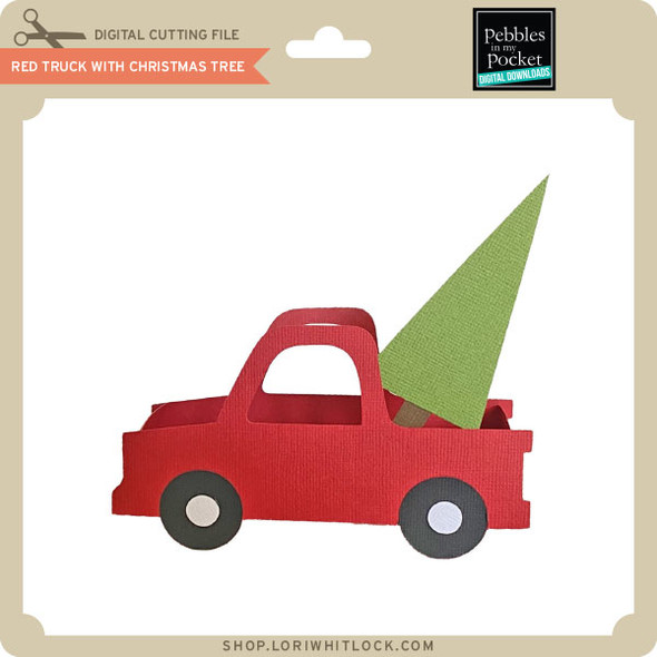 Red Truck With Christmas Tree Treat Box