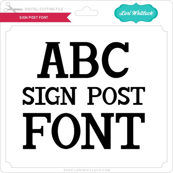 Sign Post Font