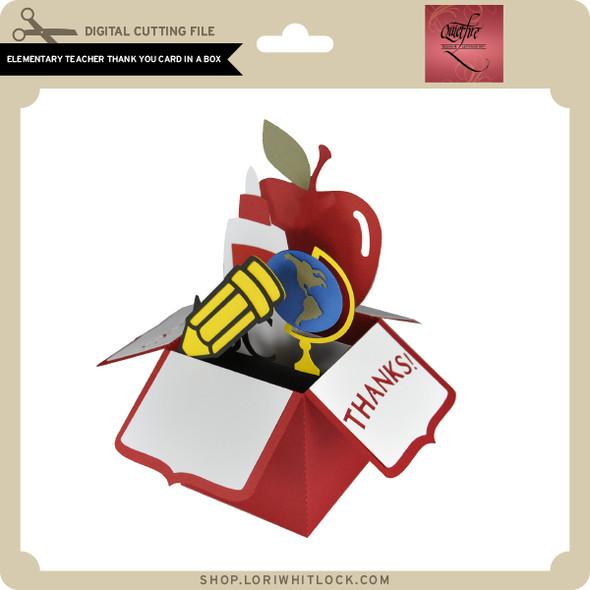 Elementary Teacher Thank You Card in a Box