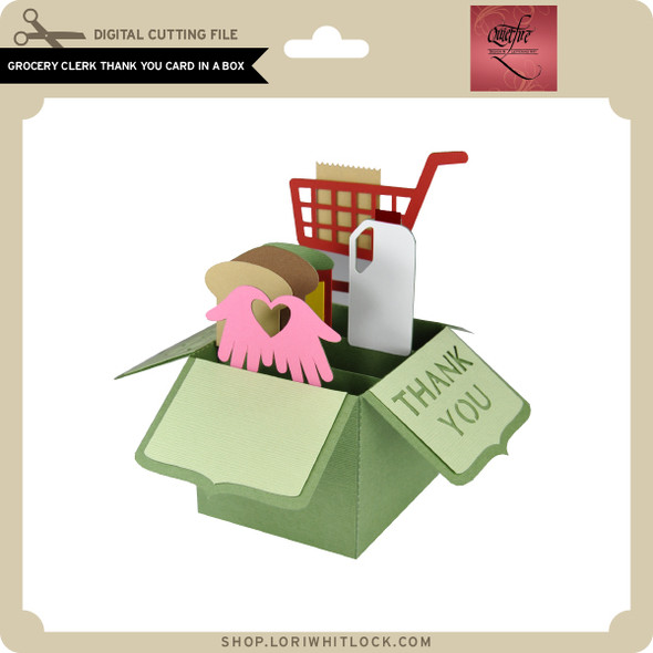 Grocery Clerk Thank You Card in a Box