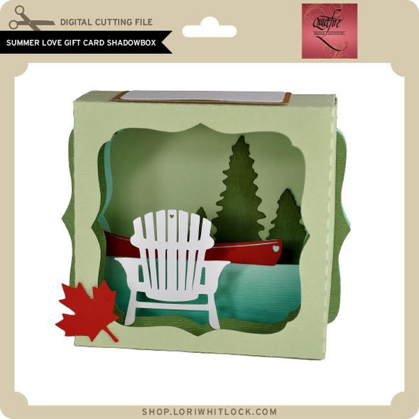 Summer Love Gift Card Shadowbox