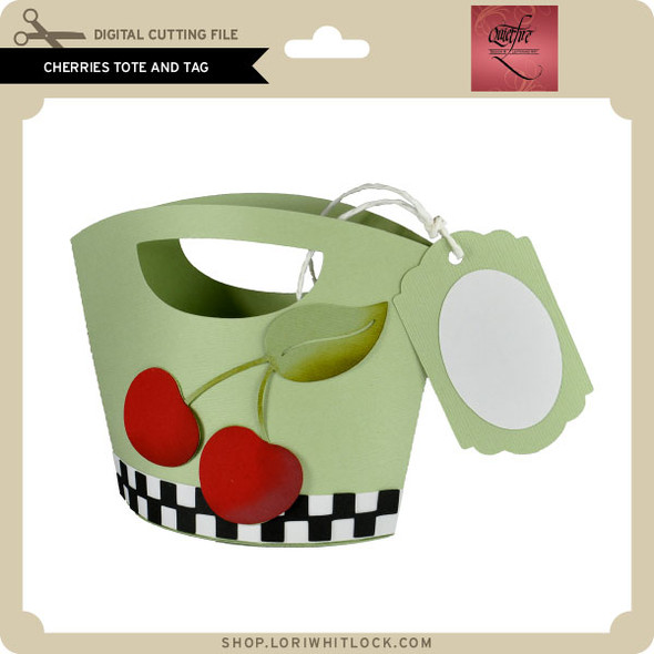 Cherries Tote and Tag