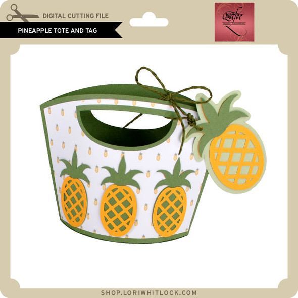 Pineapple Tote and Tag
