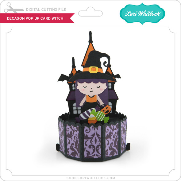 Decagon Pop Up Card Witch