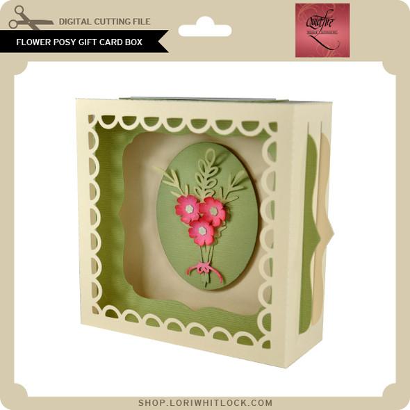 Flower Posy Gift Card Box
