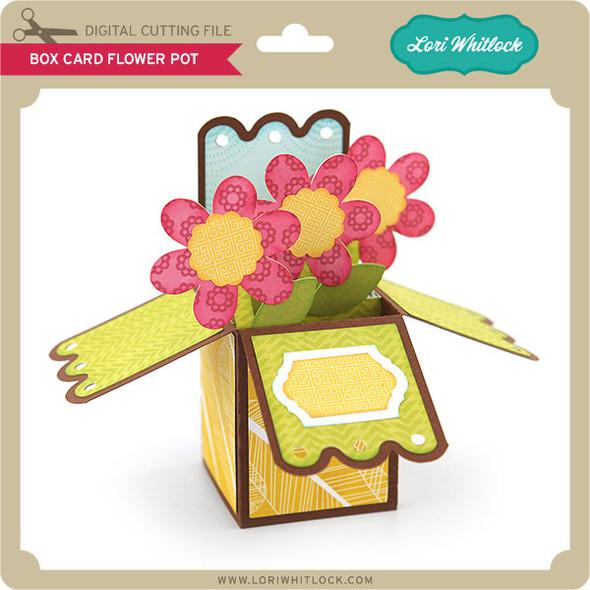 Box Card Flower Pot