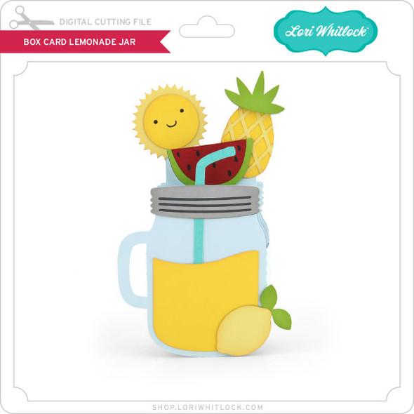 Box Card Lemonade Jar