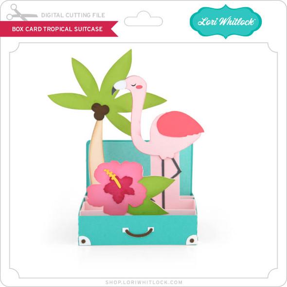 Box Card Tropical Suitcase 2