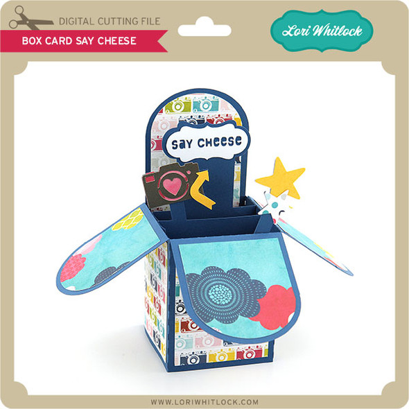 Box Card Say Cheese
