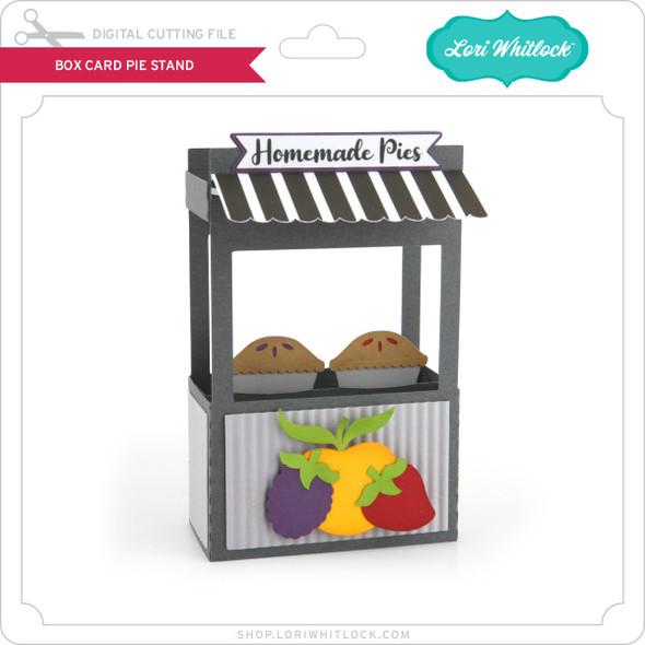 Box Card Pie Stand