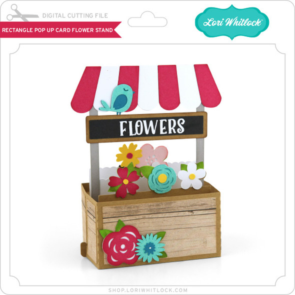 Rectangle Pop Up Card Flower Stand