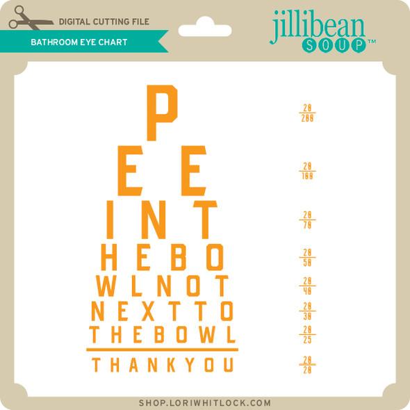 Bathroom Eye Chart