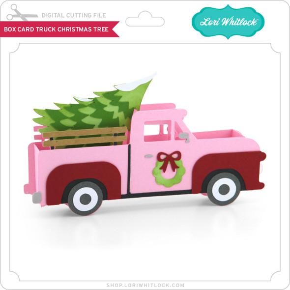 Box Card Truck Christmas Tree