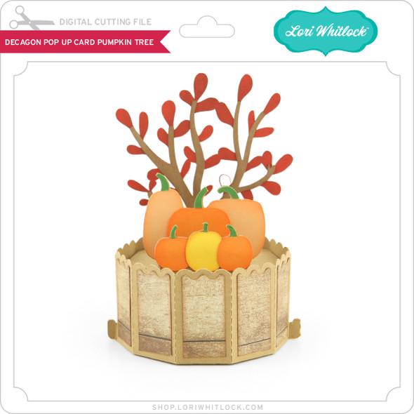 Decagon Pop Up Card Pumpkin Tree
