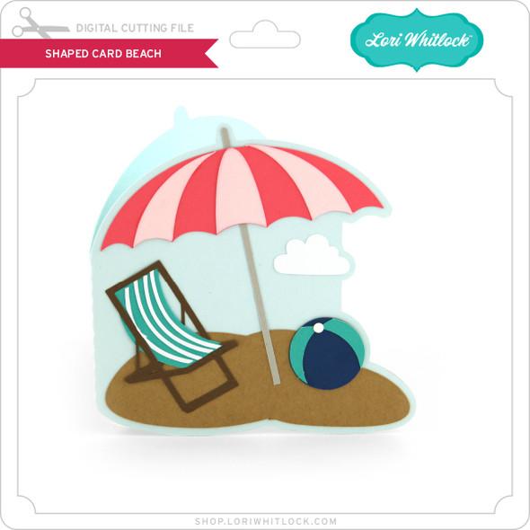 Shaped Card Beach