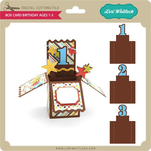 Box Card Birthday Ages 1-3