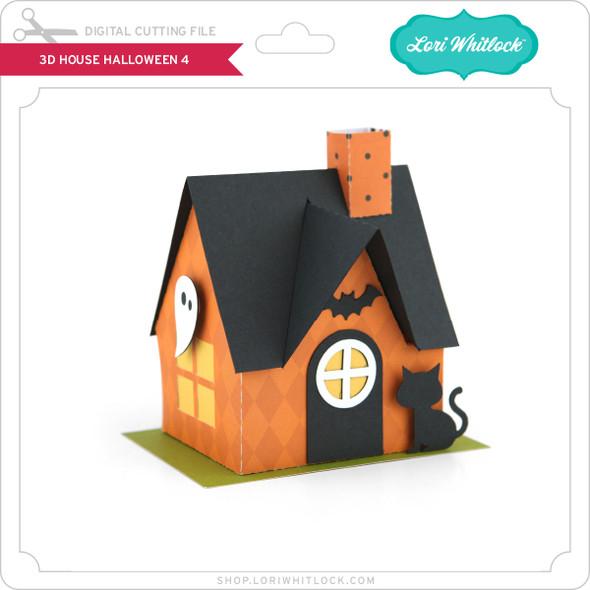 3D House Halloween 4