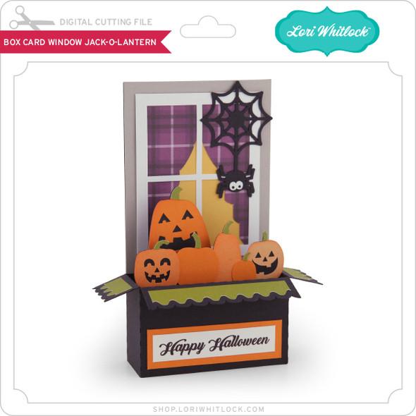 Box Card Window Jack O Lantern