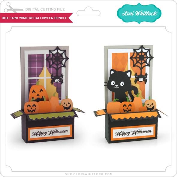 Box Card Window Halloween Bundle