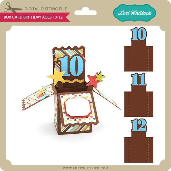 Box Card Birthday Ages 10-12