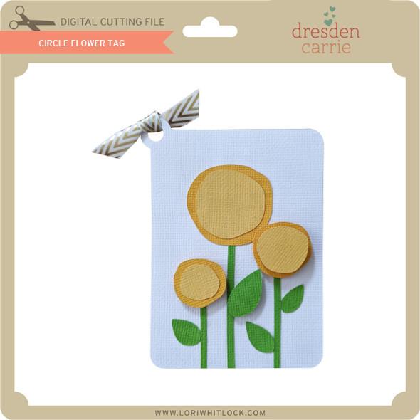 Circle Flower Tag