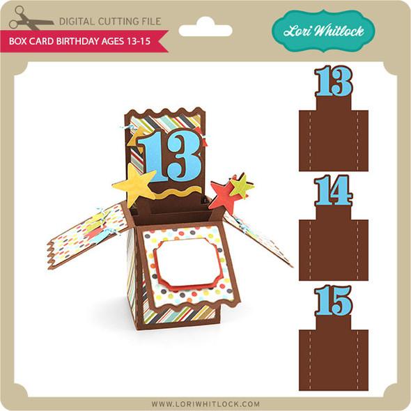 Box Card Birthday Ages 13-15