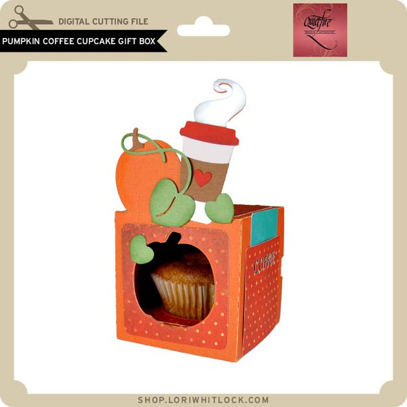 Pumpkin Coffee Cupcake Gift Box