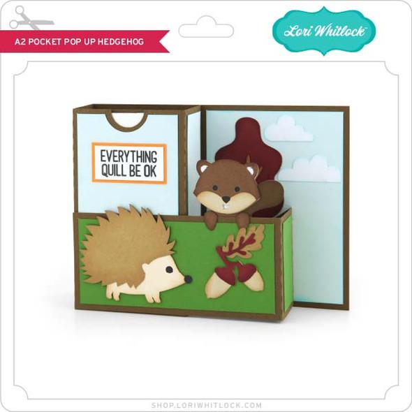 A2 Pocket Pop Up Card Hedgehog