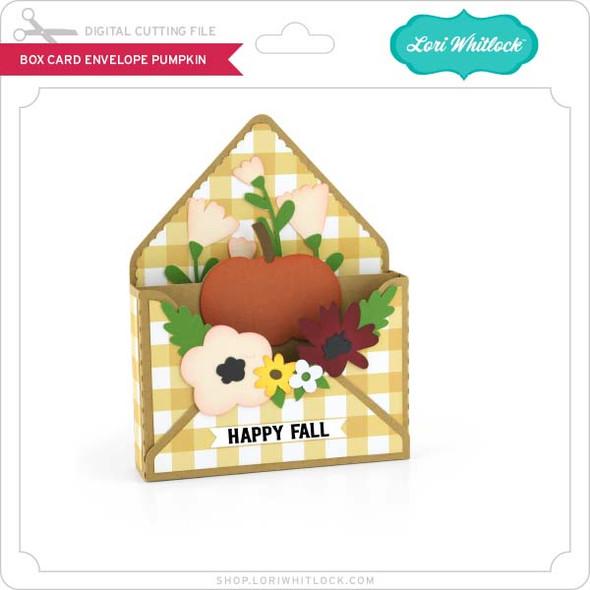Box Card Envelope Pumpkin