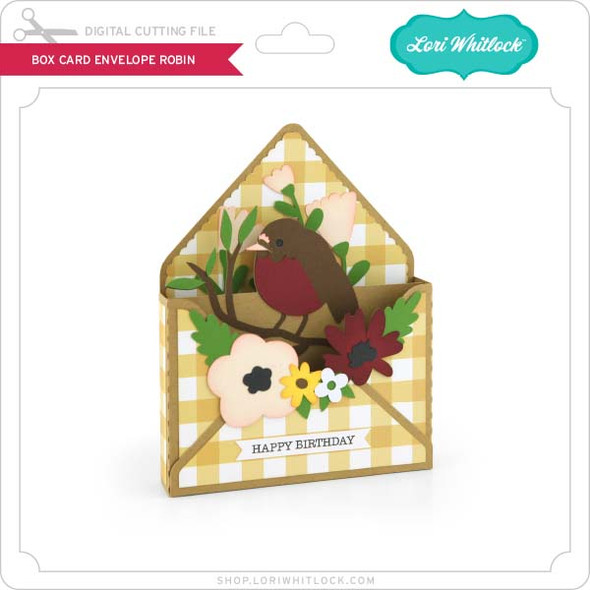 Box Card Envelope Robin