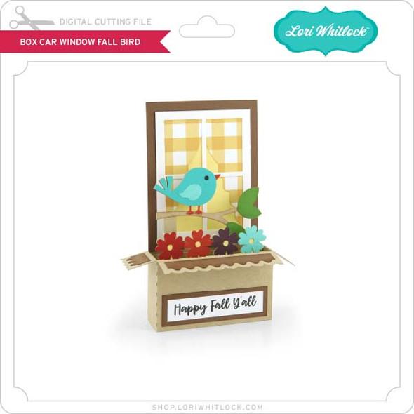 Box Card Window Fall Bird