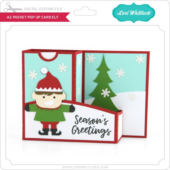 A2 Pocket Pop Up Card Elf