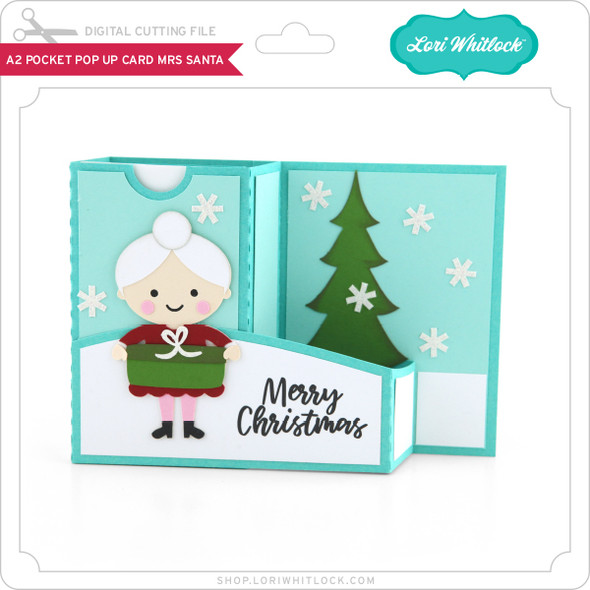 A2 Pocket Pop Up Card Mrs Santa