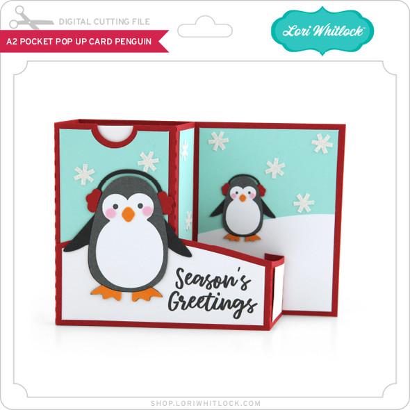 A2 Pocket Pop Up Card Penguin